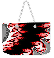 Shades Of Red And Gray Weekender Tote Bag