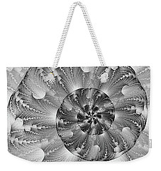 Weekender Tote Bag featuring the digital art Shades Of Silver by Lea Wiggins