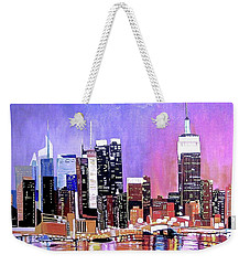 Shades Of Twilight Weekender Tote Bag by Donna Blossom