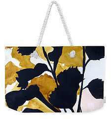 Weekender Tote Bag featuring the painting Shadow Hibiscus by Lil Taylor
