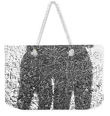 Weekender Tote Bag featuring the photograph Shadow In The Meadow Bw by Wilhelm Hufnagl