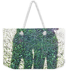 Weekender Tote Bag featuring the photograph Shadow In The Meadow by Wilhelm Hufnagl