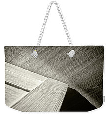 Weekender Tote Bag featuring the photograph Shadow Light Door Abstract Two by John Williams