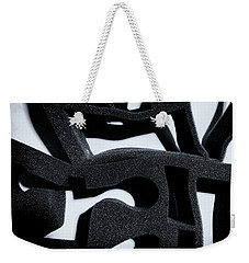 Weekender Tote Bag featuring the photograph Shadow Of Foam Abstract One by John Williams