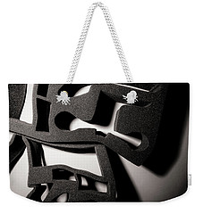 Weekender Tote Bag featuring the photograph Shadow Of Foam Abstract Two by John Williams