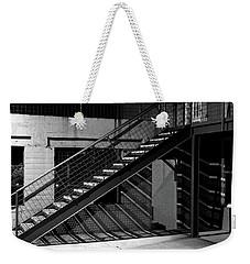 Shadow Of Stairs In Mono Weekender Tote Bag