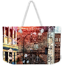 Weekender Tote Bag featuring the photograph Shadow On St. Paul by Susan Stone