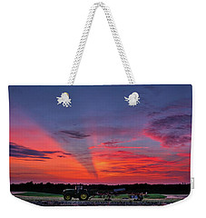 Weekender Tote Bag featuring the photograph Shadow Streak Sunset by Mark Dodd