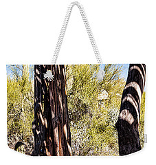 Weekender Tote Bag featuring the photograph Shadows In The Hot Desert by Lawrence Burry