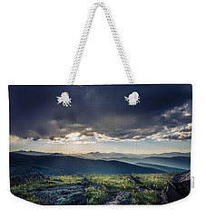 Shadows Over Mountains Weekender Tote Bag by Chris Bordeleau