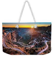 Shafer Trail Sunrise Weekender Tote Bag