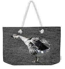 Weekender Tote Bag featuring the photograph Shake It Out by Phyllis Denton