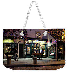 Weekender Tote Bag featuring the photograph Shakespeare Book Shop 1 by Andrew Fare