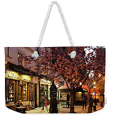 Weekender Tote Bag featuring the photograph Shakespeare Book Shop 2 by Andrew Fare