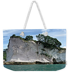 Shakespeare Rock, Coromandel, New Zealand Weekender Tote Bag by Yurix Sardinelly