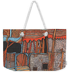 Shaky Place Weekender Tote Bag by Sandra Church