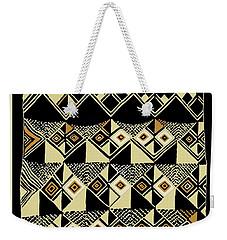 Weekender Tote Bag featuring the digital art Shaman Tribal Kuba by Vagabond Folk Art - Virginia Vivier