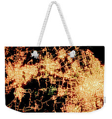 Weekender Tote Bag featuring the photograph Shanghai From Space by Delphimages Photo Creations