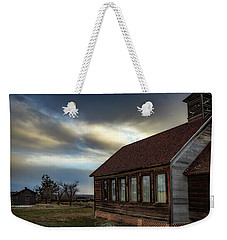 Weekender Tote Bag featuring the photograph Shaniko Schoolhouse by Cat Connor