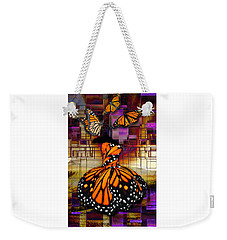 Weekender Tote Bag featuring the mixed media Shape Shifting by Marvin Blaine