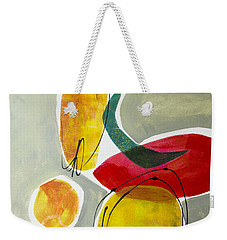 Weekender Tote Bag featuring the mixed media Shapes And Color 2 by Elena Nosyreva