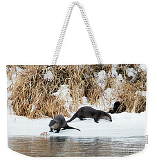 Sharing A Meal Weekender Tote Bag by Mike Dawson