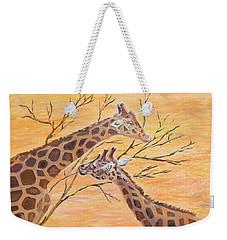Sharing Weekender Tote Bag by Elizabeth Lock