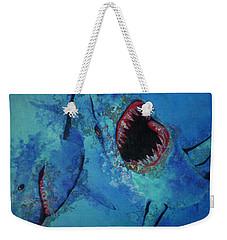 Shark Frenzy Nightmare Weekender Tote Bag by Lori Seaman