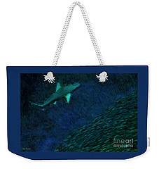 Shark In The Dark Weekender Tote Bag