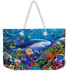 Shark Reef Weekender Tote Bag by Gerald Newton