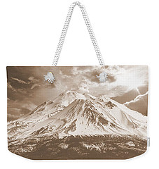 Weekender Tote Bag featuring the photograph Shasta Mt by Athala Carole Bruckner