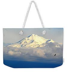 Shasta Near Sunset Weekender Tote Bag by AJ Schibig