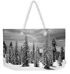 Shasta Snowtrees Weekender Tote Bag