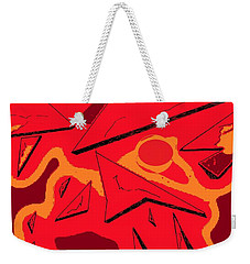 Shattered Weekender Tote Bag by Denise Fulmer