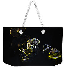 Weekender Tote Bag featuring the photograph Shattered Illusions by Susan Capuano