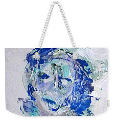 Weekender Tote Bag featuring the mixed media She Dreams In Blue by Reed Novotny