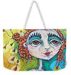 She Has Lots Of Heart To Give Weekender Tote Bag by Michelle Spiziri
