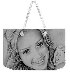 She Smiles Weekender Tote Bag by Jessica Perkins