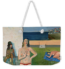 Weekender Tote Bag featuring the painting She Walks In Beauty by Paul McKey