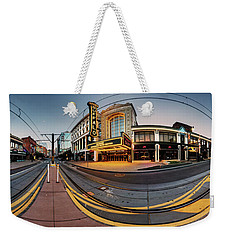 Shea's On Main Street Buffalo - Panorama Weekender Tote Bag