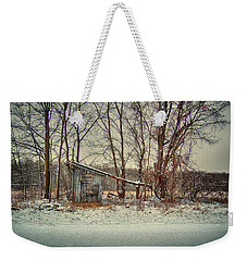Shed In Winter Weekender Tote Bag