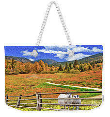 Sheep And Road Ver 1 Weekender Tote Bag