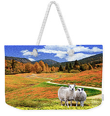 Sheep And Road Ver 2 Weekender Tote Bag