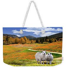 Sheep And Road Ver 3 Weekender Tote Bag