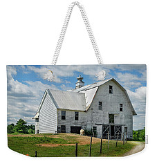 Sheep By The White Barn Weekender Tote Bag