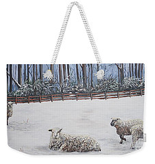 Sheep In Field Weekender Tote Bag