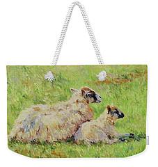 Sheep In The Spring Time,la Vie Est Belle Weekender Tote Bag