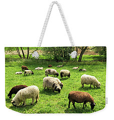Sheep On Meadow Weekender Tote Bag