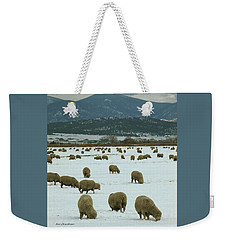 Sheep On Winter Field Weekender Tote Bag