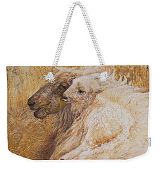 Sheep With A New Born Lamb Weekender Tote Bag